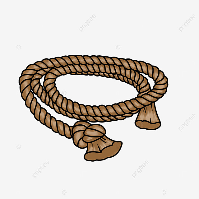 knotted brown hemp rope clipart