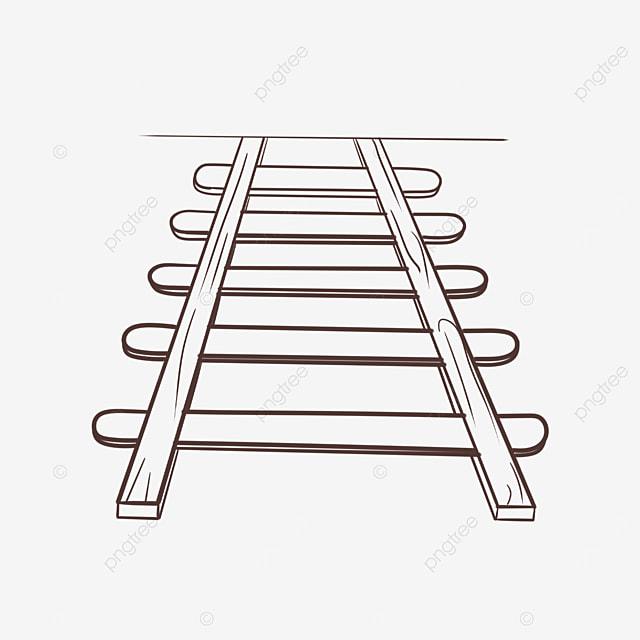 linear railway clip art