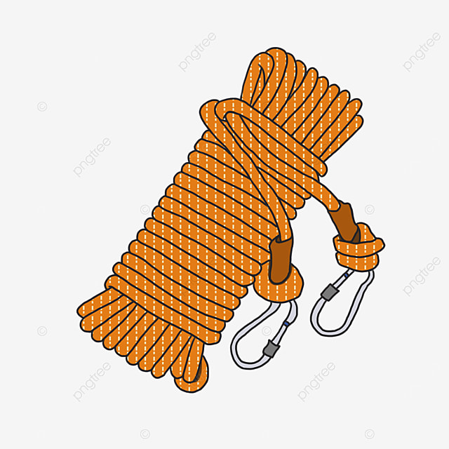 a bundle of yellow pattern rope with hook clipart