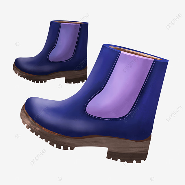 a pair of purple thick sole short boots boots clipart