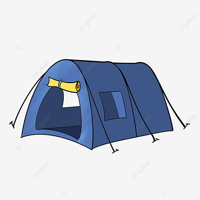 blue arched tent clip art