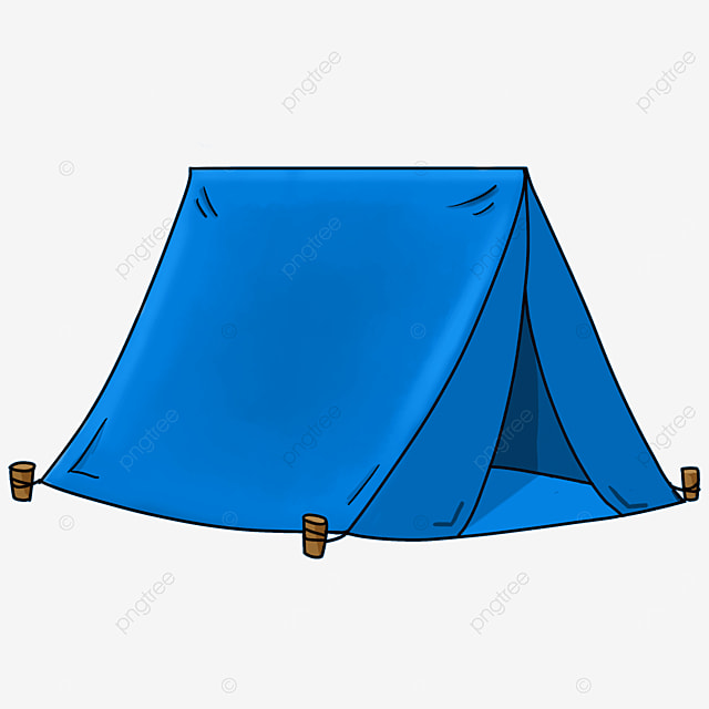 blue camping tent clipart