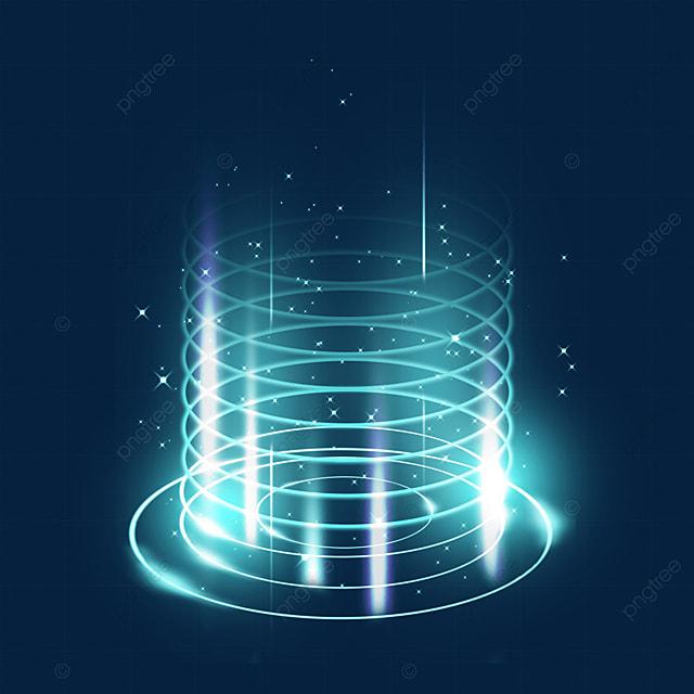 blue circle mysterious sci fi magic light effect
