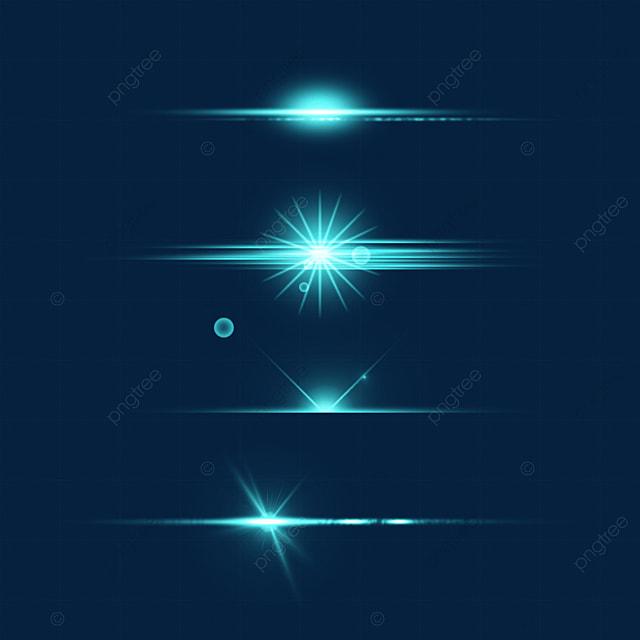 blue emission light effect aperture combination