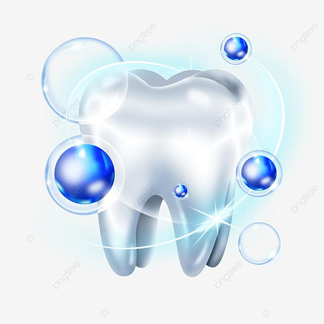 blue gradient light effect dental health