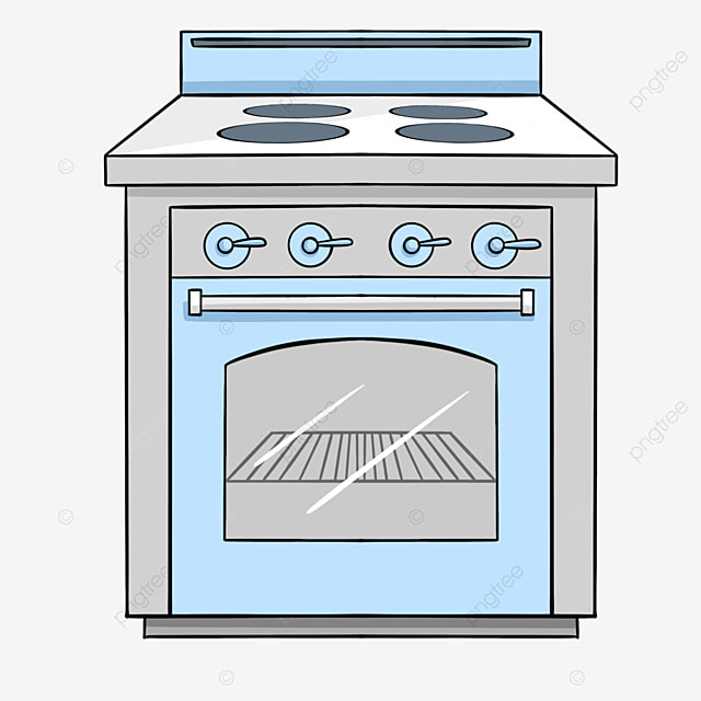 blue gray line oven clipart