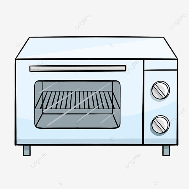 blue line cartoon oven clipart