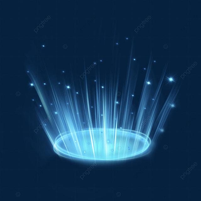 blue particles futuristic science fiction magic light effect