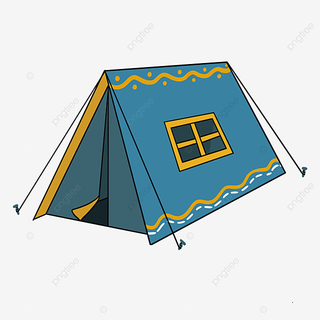 blue pattern tent clipart