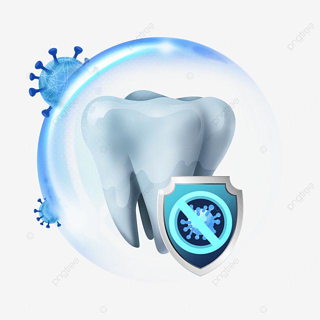 blue shiny protection bacteria light effect dental health