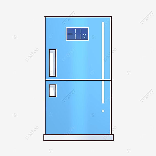 blue single door refrigerator clipart