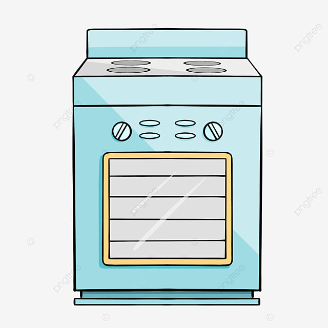 blue yellow line oven clipart