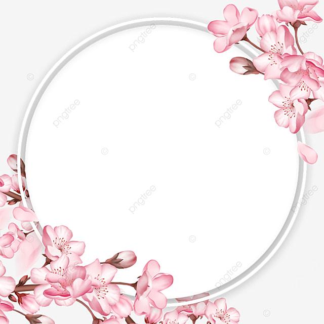branch spring round sakura border