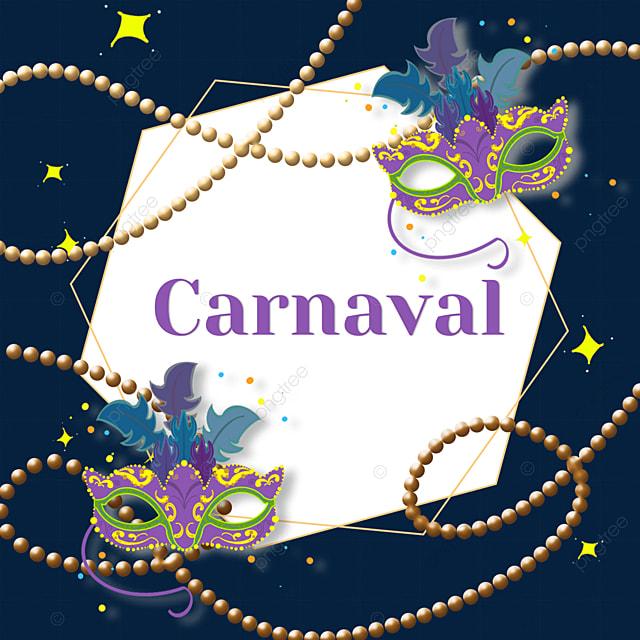 brazilian carnival festival round mask border