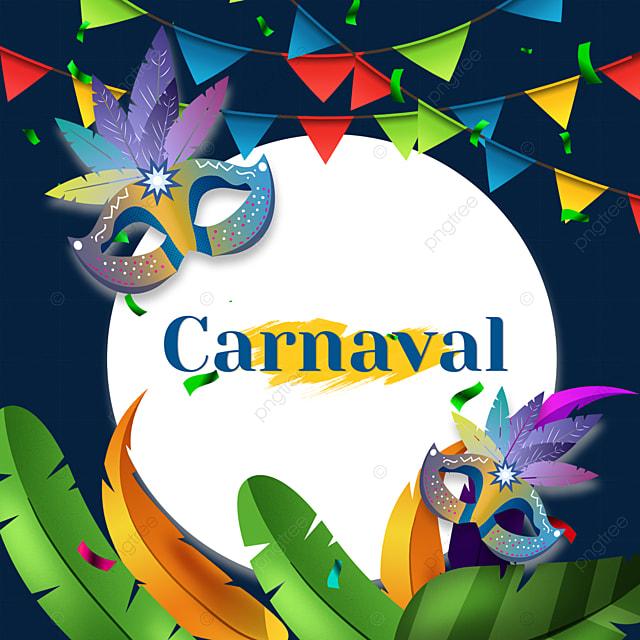 brazilian carnival ribbon round border