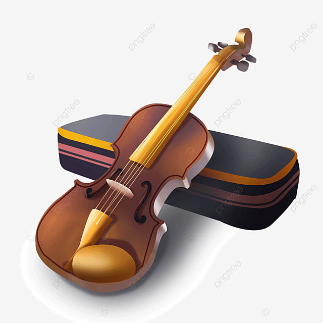 brown classical music orchestral instrument violin clip art