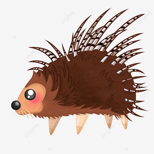 brown porcupine clip art