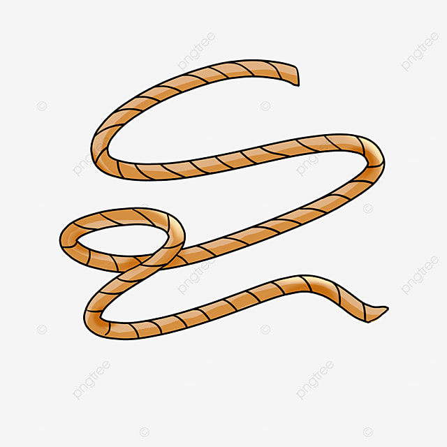 brown twisted rope knot rope clipart
