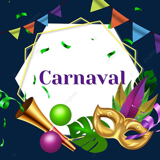 bunting brazilian carnival border