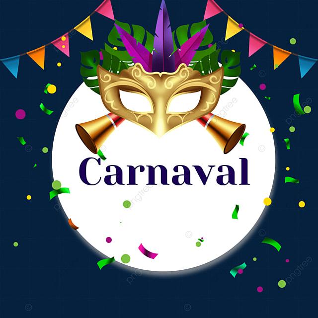 bunting brazilian carnival round border