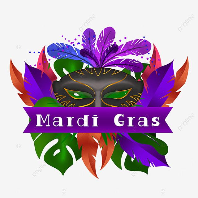 carnival black mask border