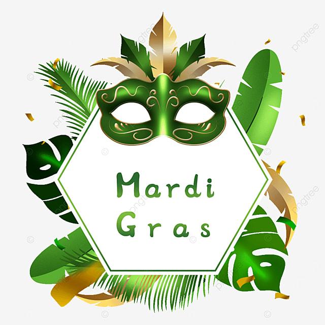 carnival green mask border