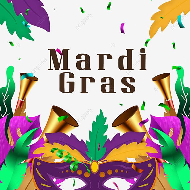 carnival mask border purple ribbon