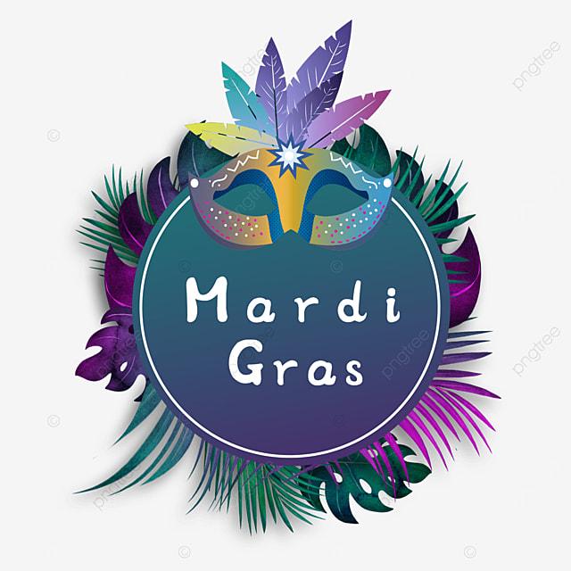 carnival mask round border purple
