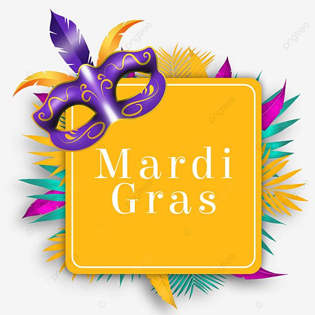 carnival mask yellow border