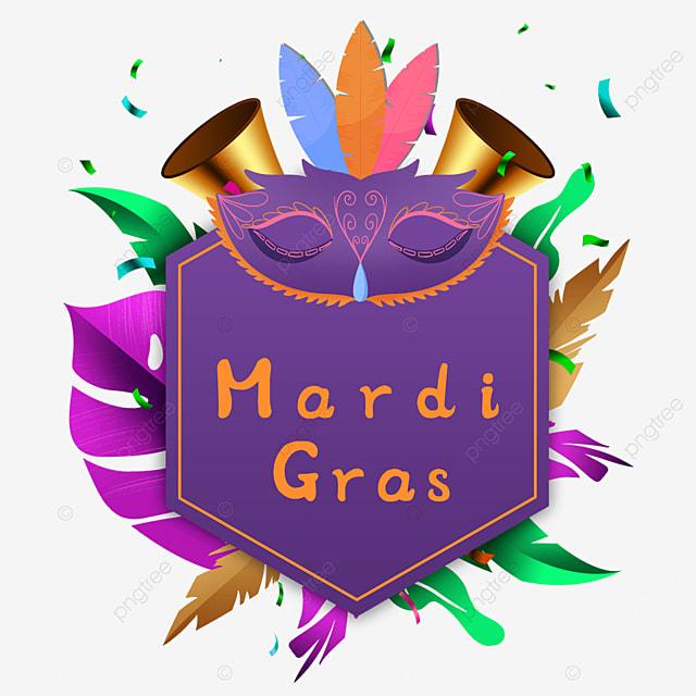 carnival purple mask border