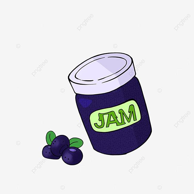 cartoon blueberry jam clipart