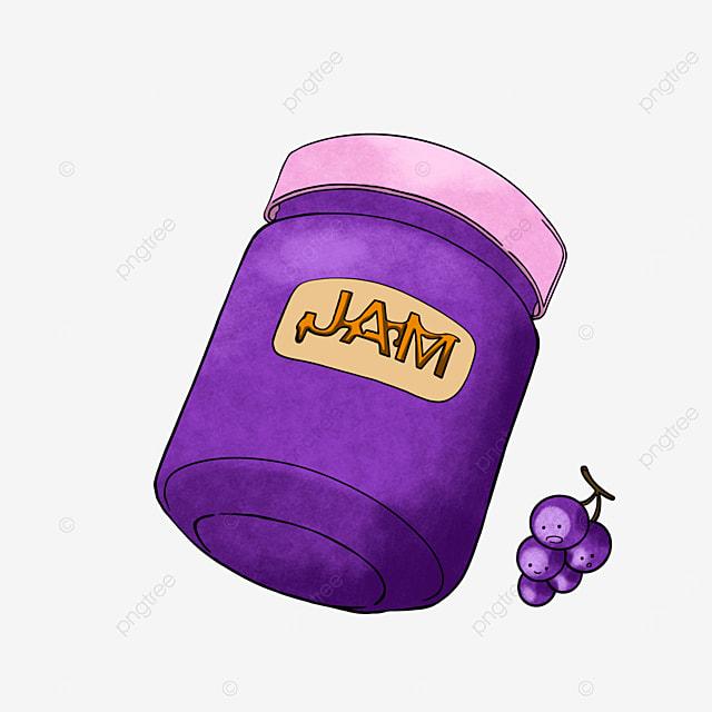 cartoon grape jam clipart