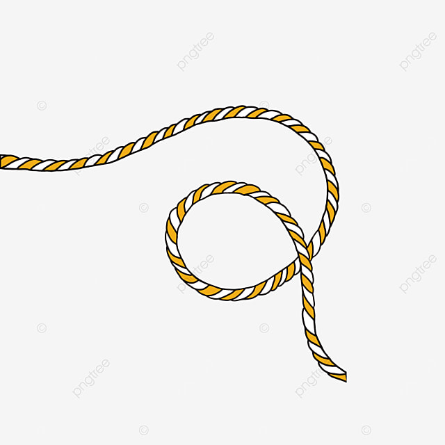 cartoon rope curled in an arc clipart