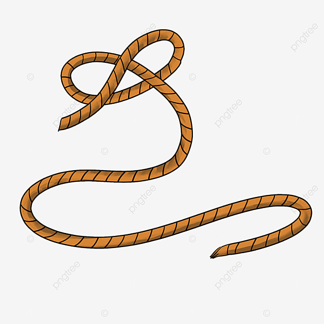 cartoon rope knotted clipart