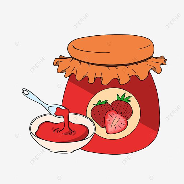 cartoon strawberry jam clipart