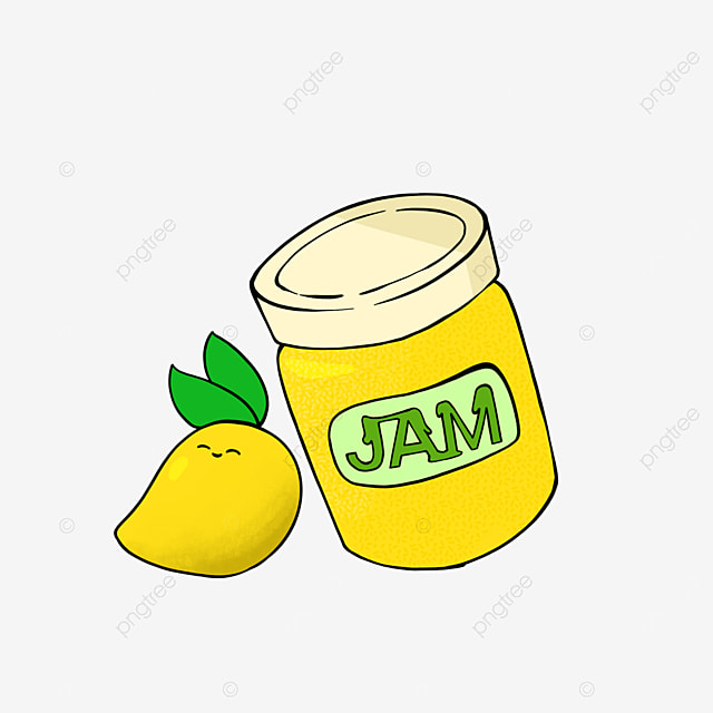 cartoon style mango jam clipart