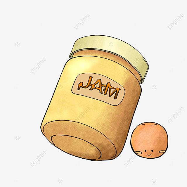 cartoon style orange jam clipart