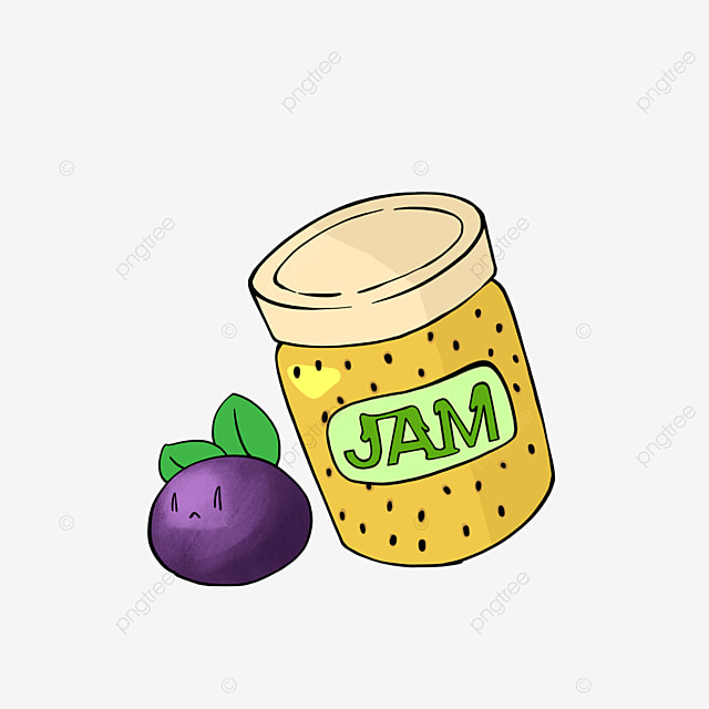 cartoon style passion fruit jam clipart
