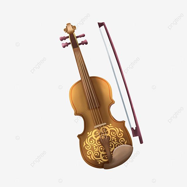 classical pattern pattern violin clip art