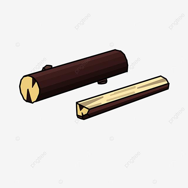clip art of cut brown wood