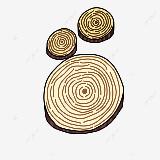 clip art of round wood of different sizes