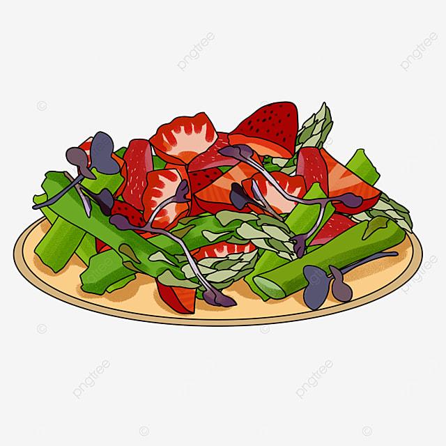 creative cuisine salad clipart