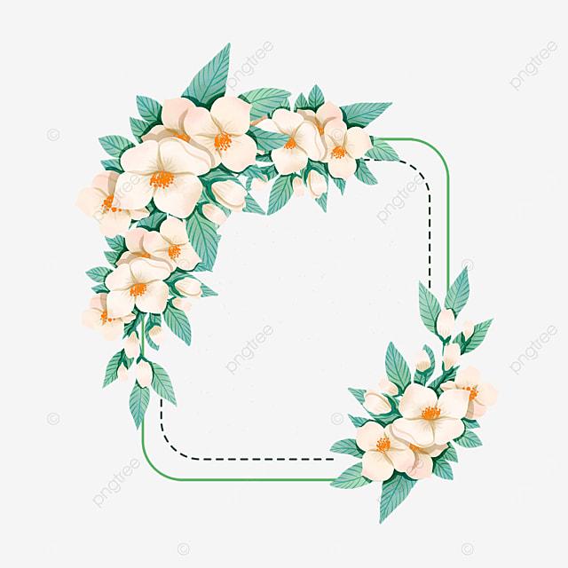 creative jasmine flower border