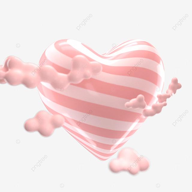 cute candy element peach heart