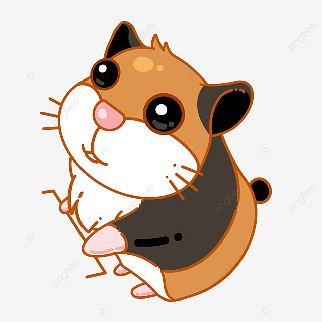 cute hamster with big eyes clipart