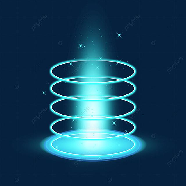dazzling blue futuristic science fiction magic light effect