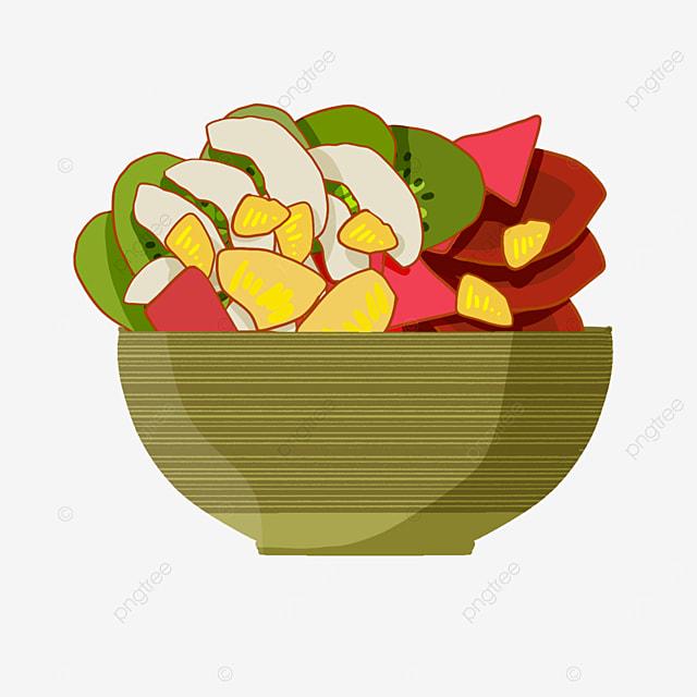 delicious spring salad clipart