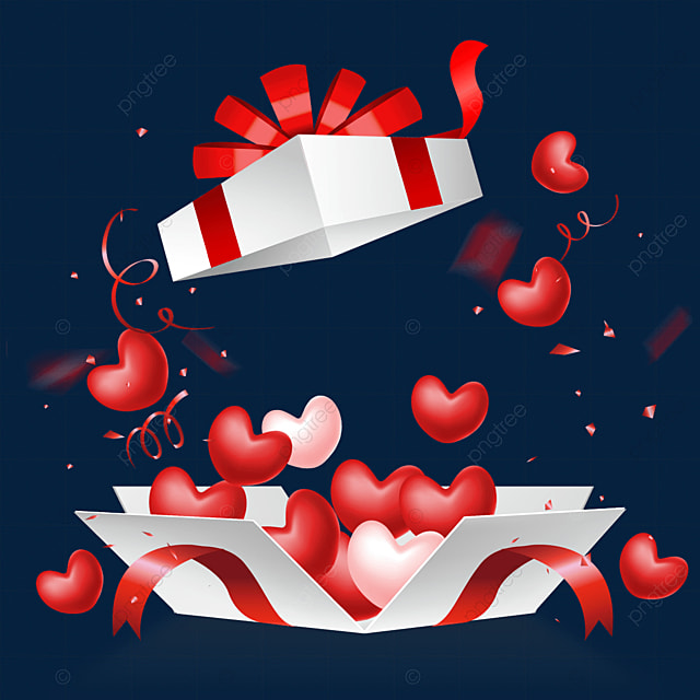 dynamic effect to open the love box valentines day