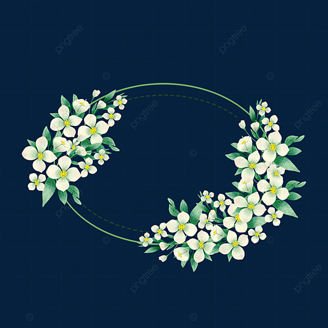 ellipse fashion jasmine flower border