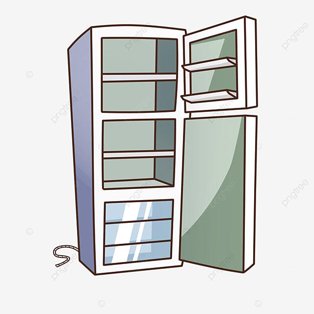 empty refrigerator clipart